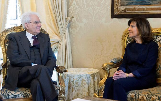 Itaalia president Sergio Mattarella ja senati spiiker Maria Elisabetta Alberti Casellati.
