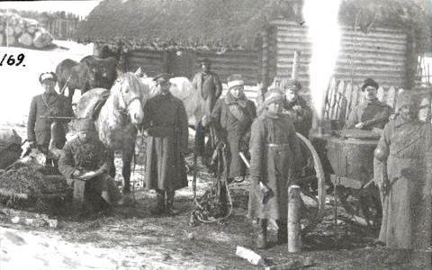 Hobustest Vabadussõja ajal. 2. Jalaväerügement