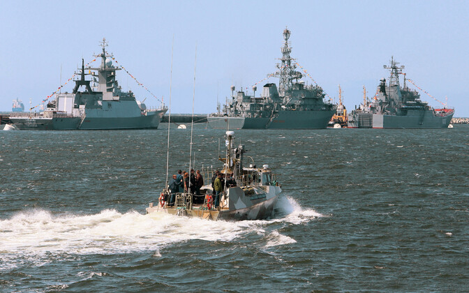 Vene sõjalaevad Baltiiskis, arhiivifoto.
