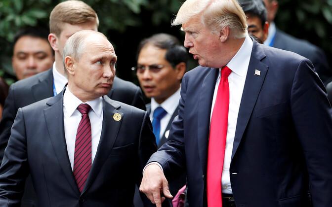Putin ja Trump APEC-i kohtumisel Vietnamis 2017. aasta novembris.