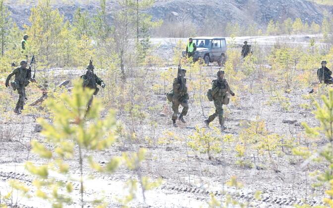 Viru jalaväepataljoni lahinglaskmised Sirgalas. Illustreeriv foto.