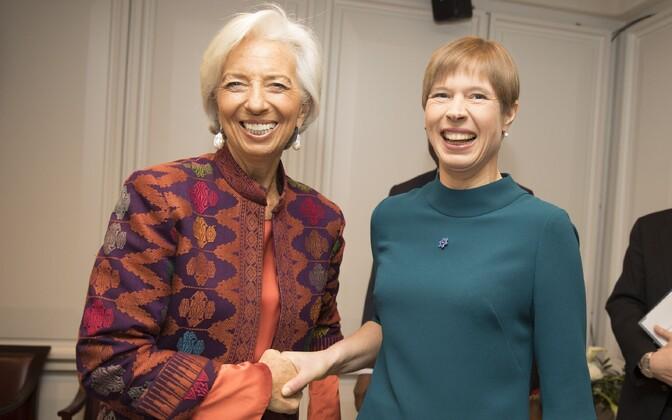 IMF-i president Christine Lagarde ja president Kersti Kaljulaid.