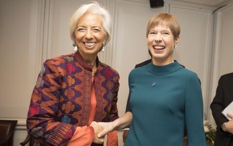 Президент Международного валютного фонда (МВФ) Кристин Лагард и президент Эстонии Керсти кальюлайд.