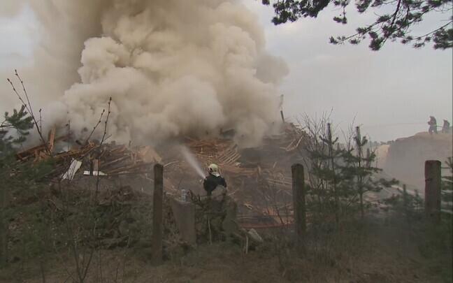 Пожар в волости Саку