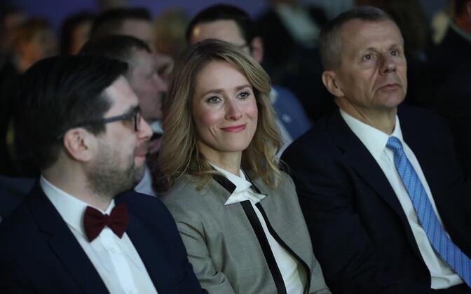 Kert Valdaru, Kaja Kallas ja Jürgen Ligi Reformierakonna üldkogul