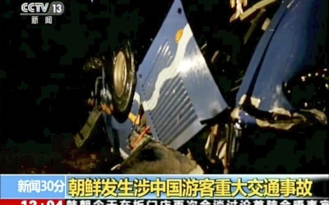 Bussinõnnetus Põhja-Koreas 22. aprillil.