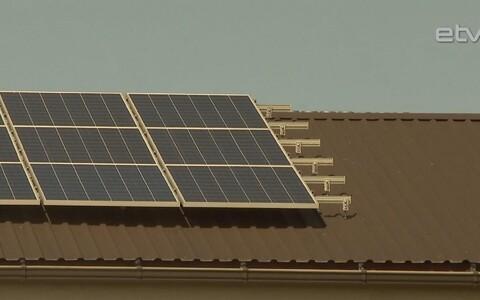 Солнечные панели.