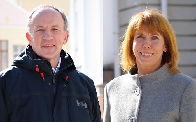 Tartu Ülikooli rektorikandidaadid Toomas Asser ja Margit Sutrop