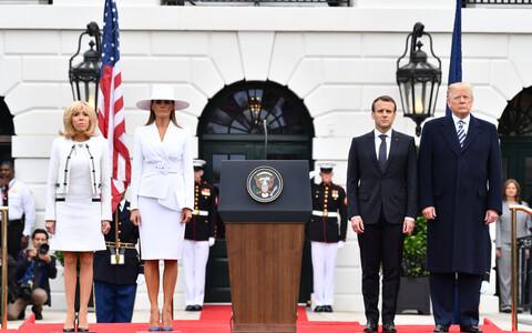 Президент Франции Эммануэль Макрон прибыл с государственным визитом в США.