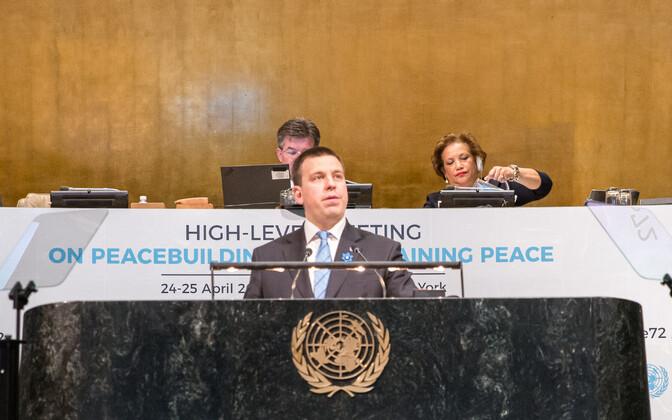 Peaminister Jüri Ratas ÜRO-s.