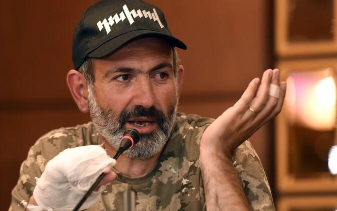 Armeenia opositsioonijuht Nikol Pašinjan.