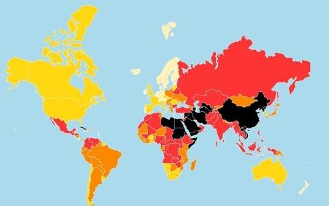 Карта свободы прессы - 2018.