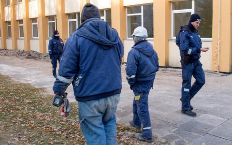 Migrant labor raid.