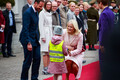 Crown Prince Haakon and Crown Princess Mette-Marit of Norway arrive at Kadriorg Palace