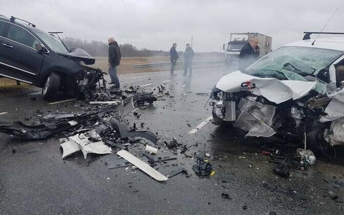 Liiklusõnnetus Narva lähistel.