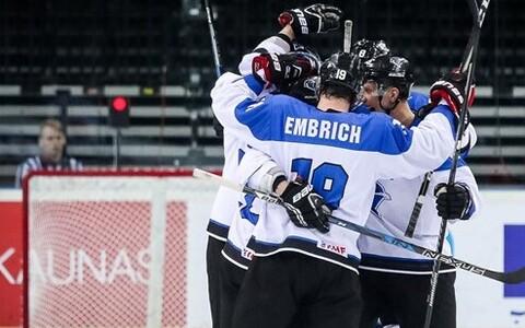 Сборная Эстонии по хоккею успешно проводит нынешний чемпионат.