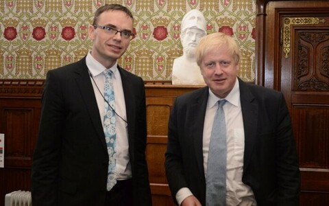 Minister of Foreign Affairs Sven Mikser (SDE) with his British colleague Boris Johnson in London. April 25, 2018.