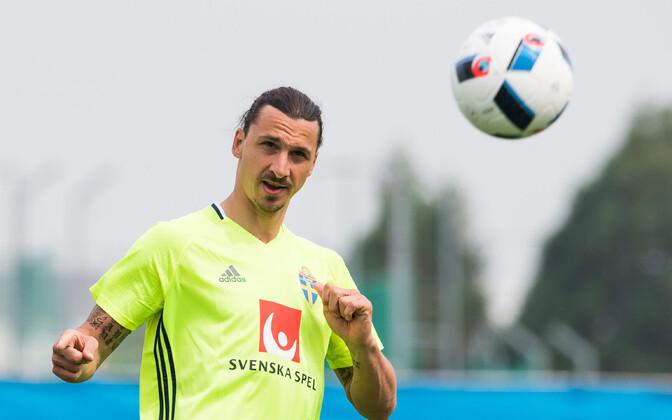 Zlatan Ibrahimovic kaks aastat tagasi Rootsi koondise treeningul.