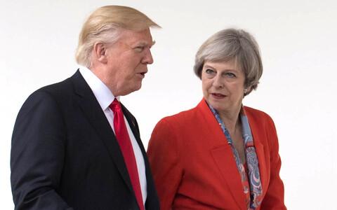 Президент США Дональд Трамп и премьер-министр Великобритании Тереза Мэй в январе 2018 года.