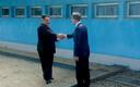 Лидер КНДР Ким Чен Ын и президент Южной Кореи Мун Чжэ Ин.