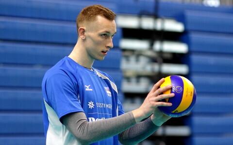 Eesti võrkpallikoondise treening / Henri Treial