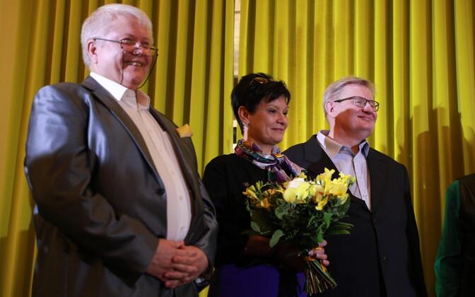 Rein Lang, Laine Randjärv ja Raivo Palmaru kultuuriministeeriumi avatud uste päeval.
