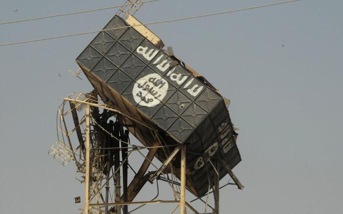 Terroriorganisatsiooni sümboolika ISIS-elt tagasi vallutatud Tal Afaris, Iraagis.
