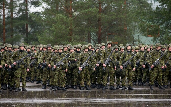 Estonian conscripts at Tapa during the Siil 2017 exercise.
