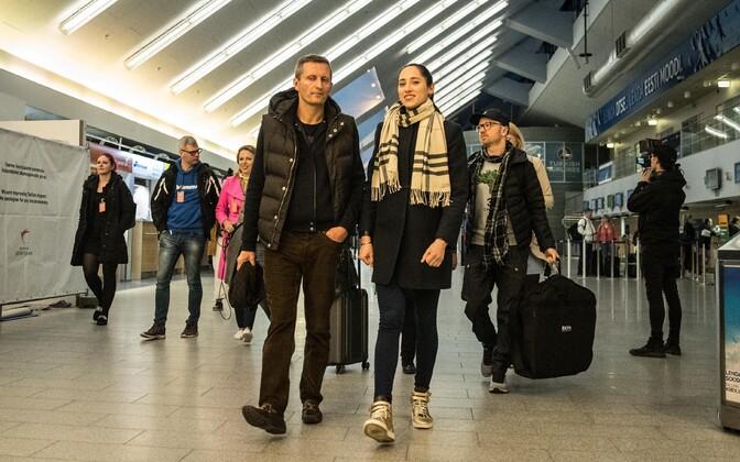 Эстонская команда Евровидения отправилась в Лиссабон.
