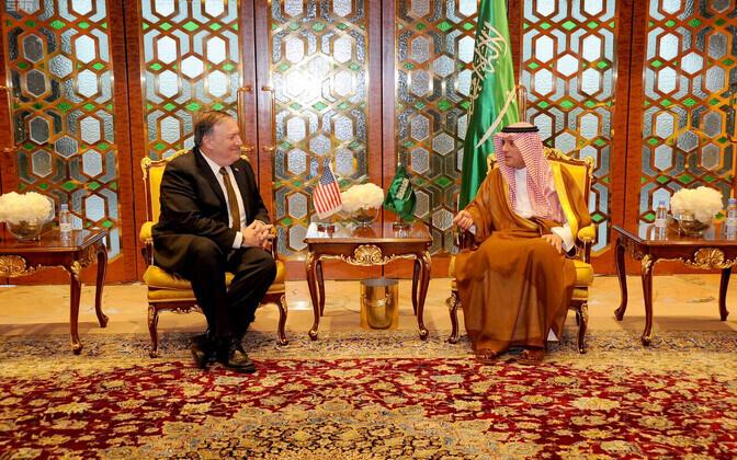 USA välisminister Mike Pompeo ja Saudi Araabia välisminister Adel Al-Jubeir.