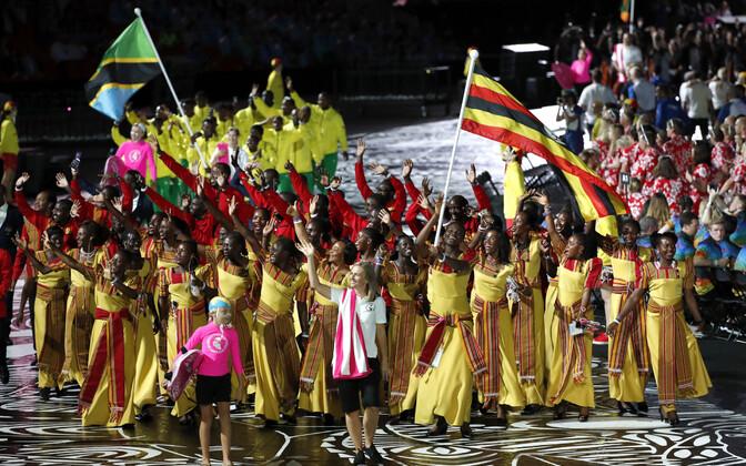 Uganda koondis Rahvaste Ühenduse mängude avatseremoonial