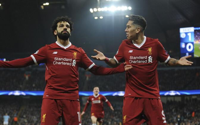 Mohamed Salah ja Roberto Firmino.