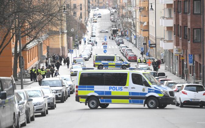 Politseiauto Stockholmi tänaval
