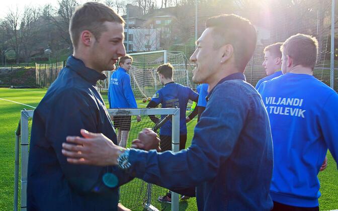 Yosuke Saito jättis esmaspäevasel treeningul meeskonnakaaslastega hüvasti.