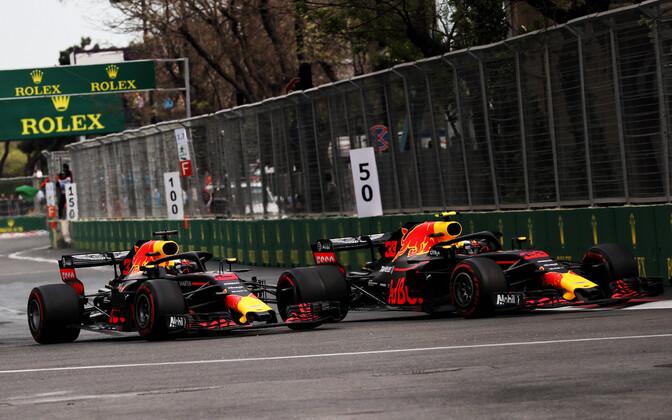 Daniel Ricciardo ja Max Verstappen (Red Bulli piloodid)
