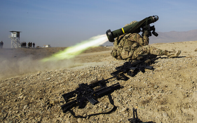 Javelin missile system in action