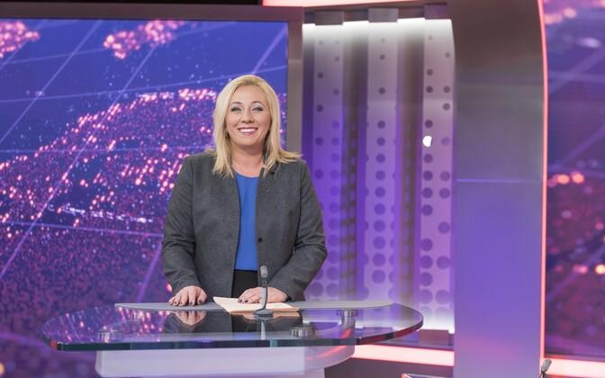 Toimetaja-saatejuht Monika Tamla, teleuudistesaade
