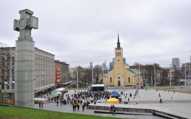 Население Таллинна стабильно увеличивается.
