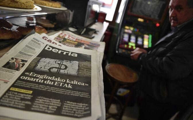 Ajaleht, mille esikaanel lugu ETA-st.