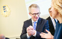 Janek Mäggi valitsuse uue koosseisu esimesel istungil.