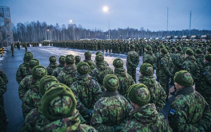 Õppusel Okas 2017 osalenud reservväelased.