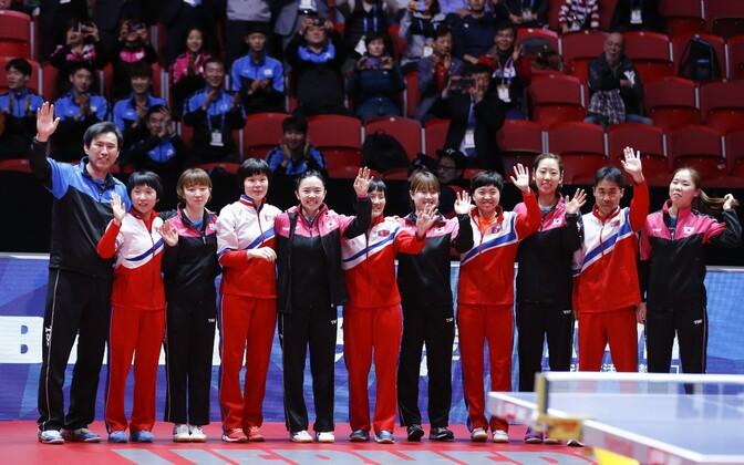 Põhja- ja Lõuna-Korea lauatennisistid
