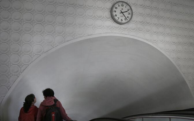 Kell Pyongyangi metroos.