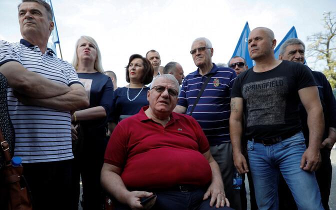 Serbia marurahvuslane Vojislav Šešelj ja tema poolehoidjad.