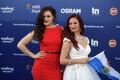 63. Eurovisiooni punane vaip, San Marino lauljad Jessika ja Jenifer Brening