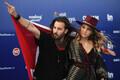 63. Eurovisiooni punane vaip, Šveitsi duo Zibbz, lauljad Corinne ja Stefan Gfeller