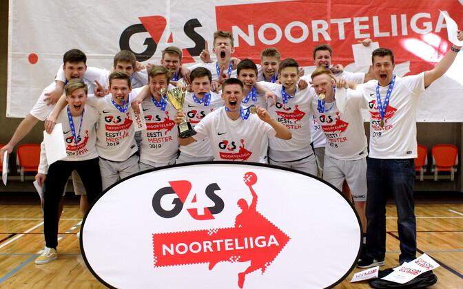 Noorteliigas võidutses U-18 vanuseklassis noormeeste seas BC Tartu.