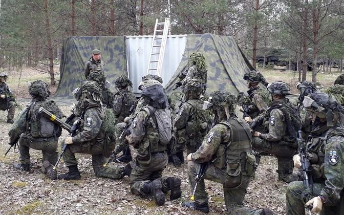 Soome sõdurid Eestis õppusel Siil 2018.