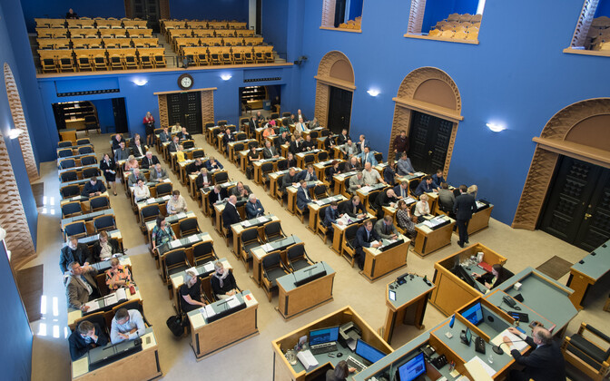 At a sitting of the Riigikogu.