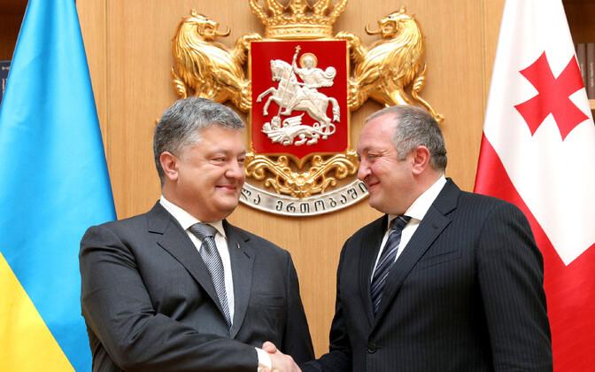 Президенты Украины и Грузии Петр Порошенко (слева) и Георгий Маргвелашвили.